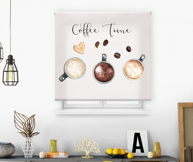 Estores impresión digital Acuarela Coffee Time