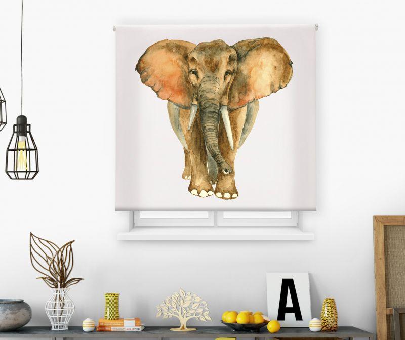 Estores impresión digital Acuarela Elefante