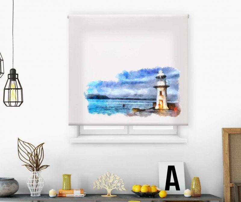 Estores impresión digital Acuarela Faro