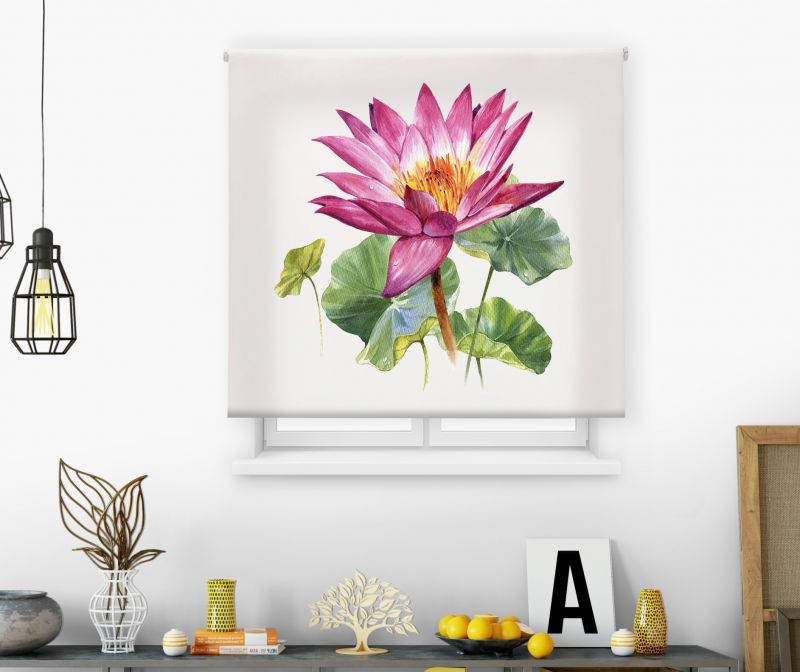 Estores impresión digital Acuarela Flor Loto