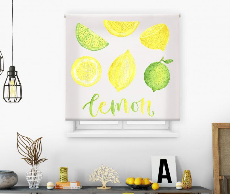 Estores impresión digital Acuarela Lemon
