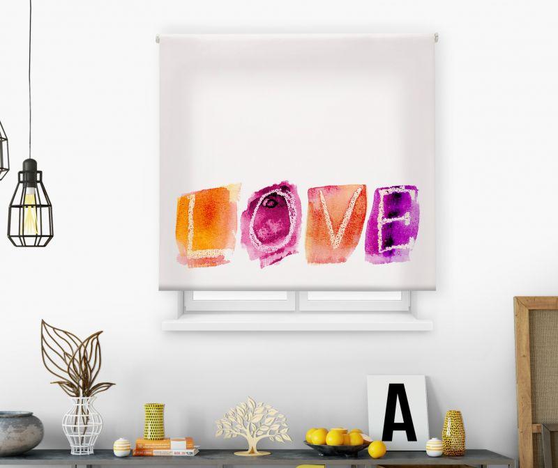 Estores impresión digital Acuarela Love