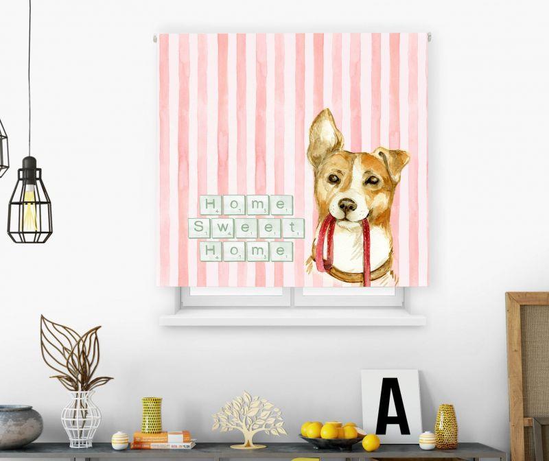 Estores impresión digital Acuarela Sweet home dog
