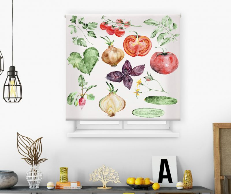 Estores impresión digital Acuarela Vegetales