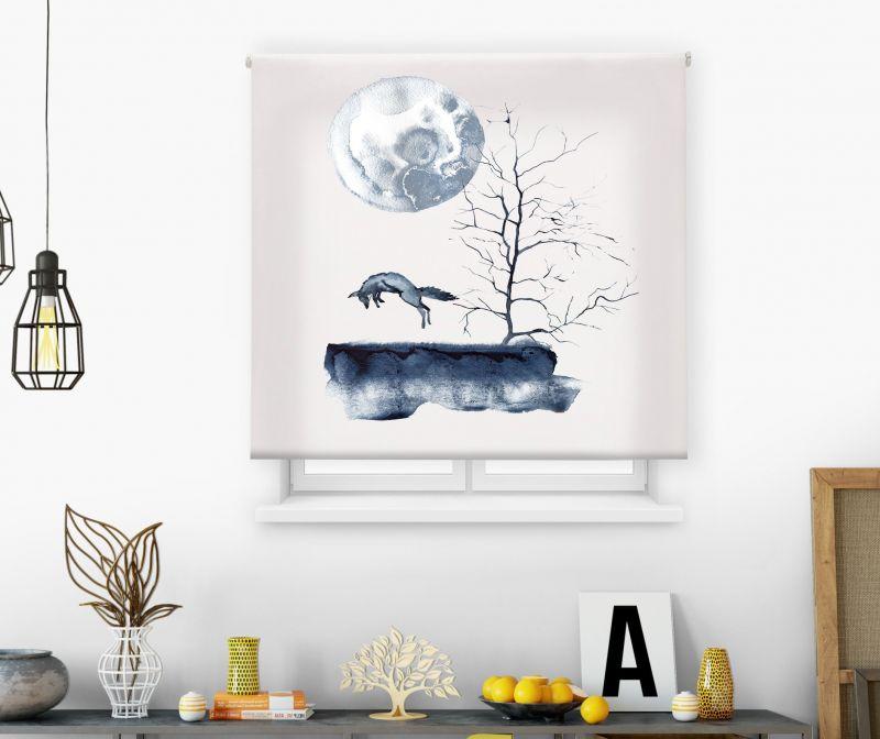 Estores impresión digital Acuarela Moon Fox
