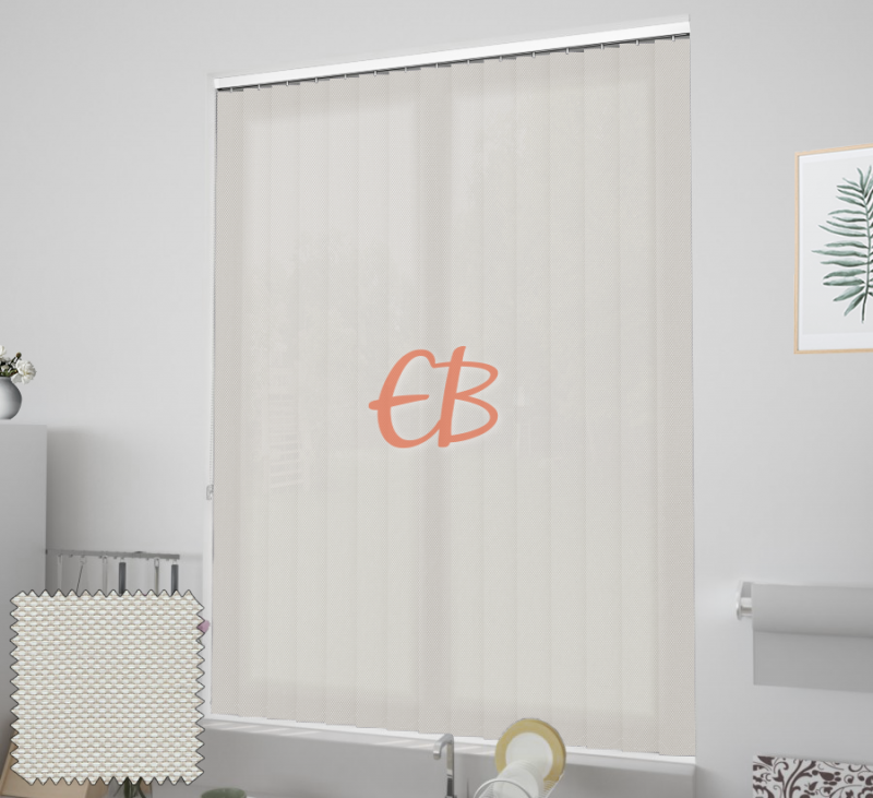 cortina vertical ecoscreen 3% Blanco lino 0220