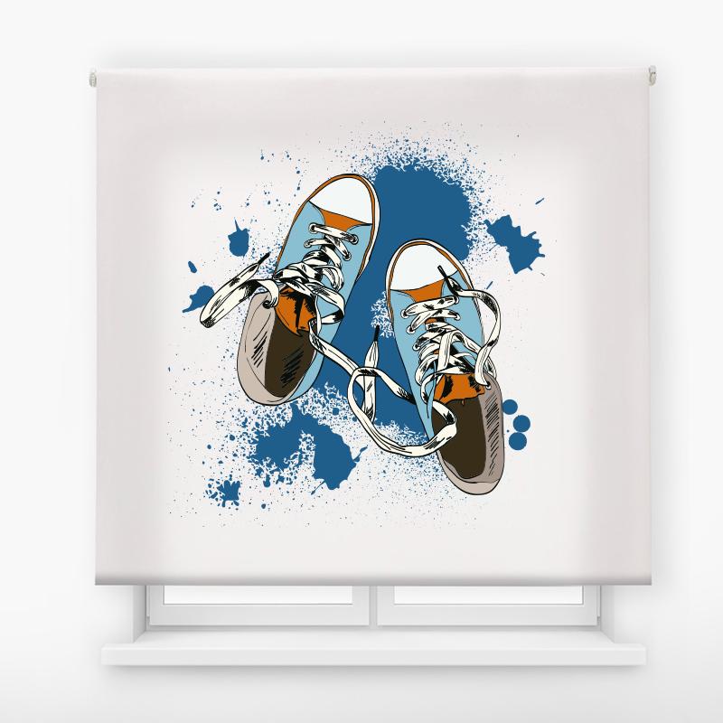 estor juvenil impresion digital exteme colors Deportivas azul