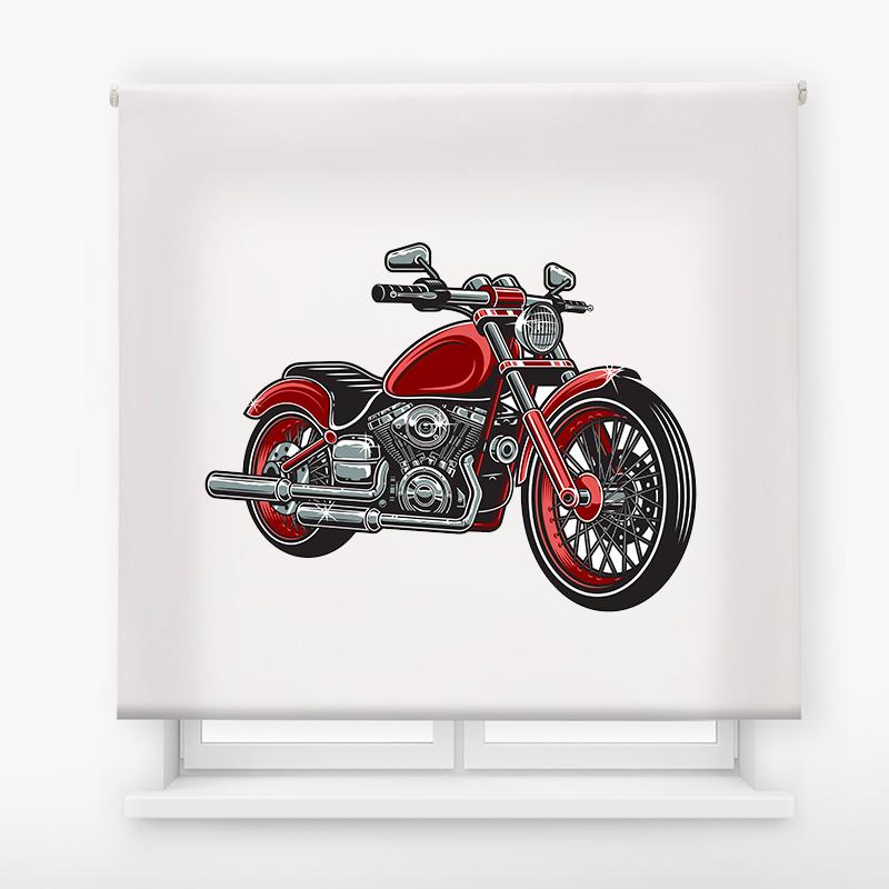 Estor enrollable juvenil básico Moto roja