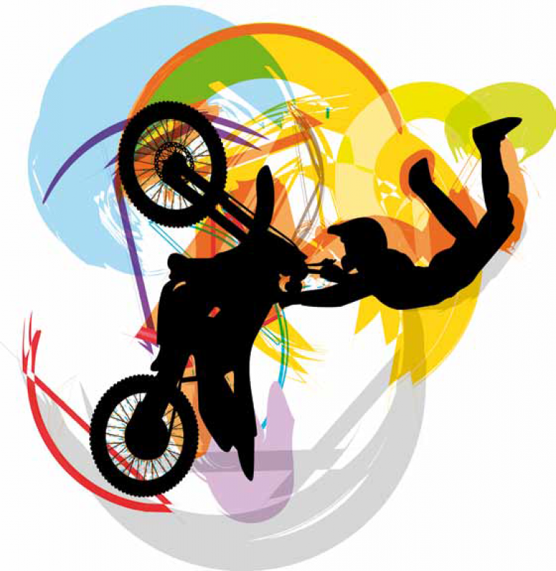 Estor enrollable juvenil color motocross