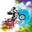 Estor enrollable juvenil color bike