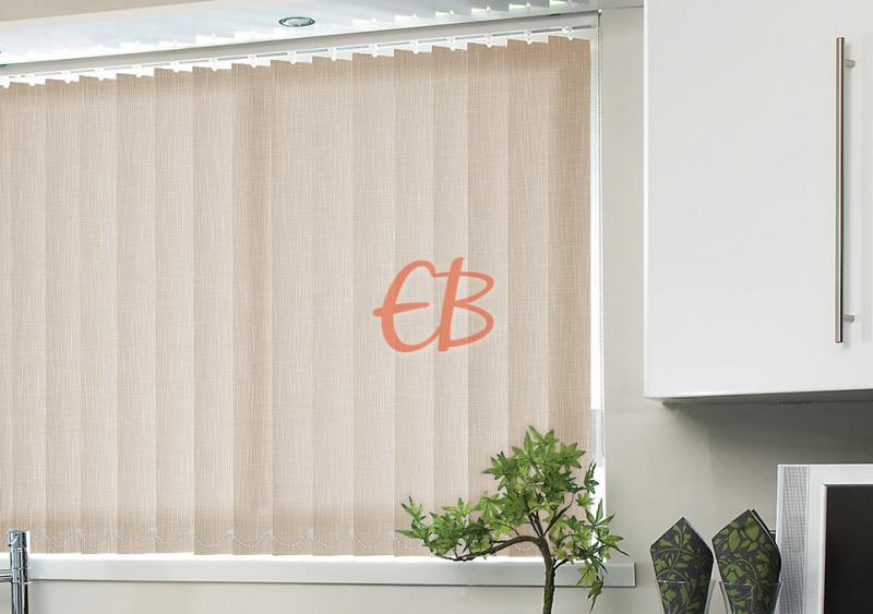cortina vertical lama de 89 mm Marrón claro SH02