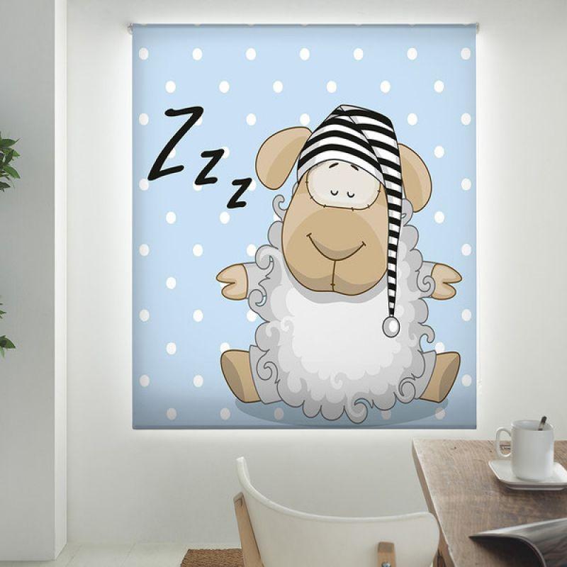 Estor enrollable infantil y bebé básico oveja dormir