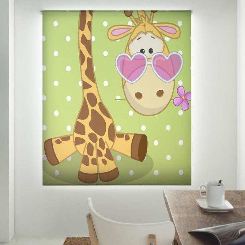 Estor enrollable infantil y bebé básico zebra con corazones