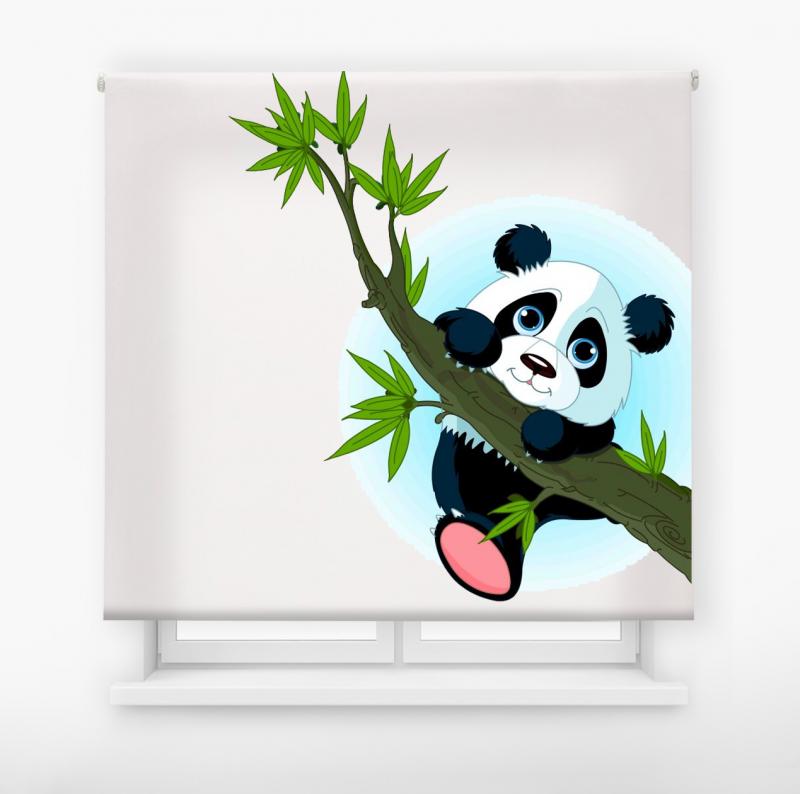 Estor enrollable infantil y bebé básico oso panda