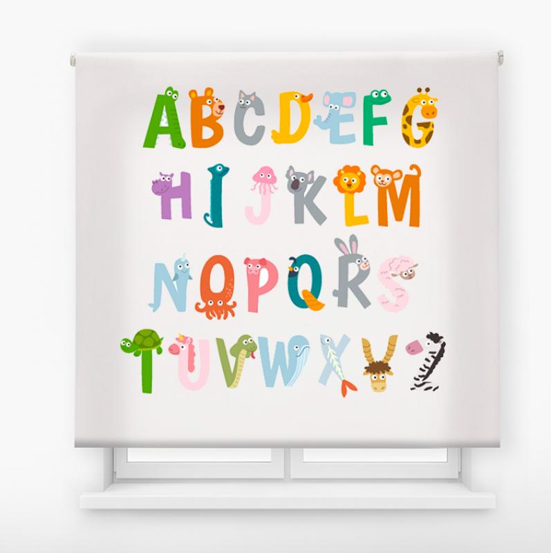 Estor enrollable infantil y bebé básico abecedario animales
