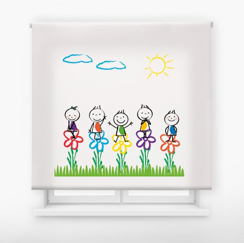 Estor enrollable infantil y bebé básico jardín infantil