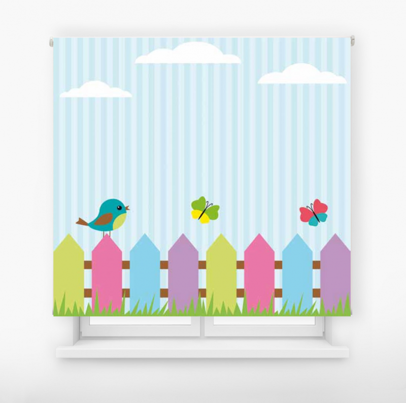 Estor enrollable infantil y bebé básico jardín colores