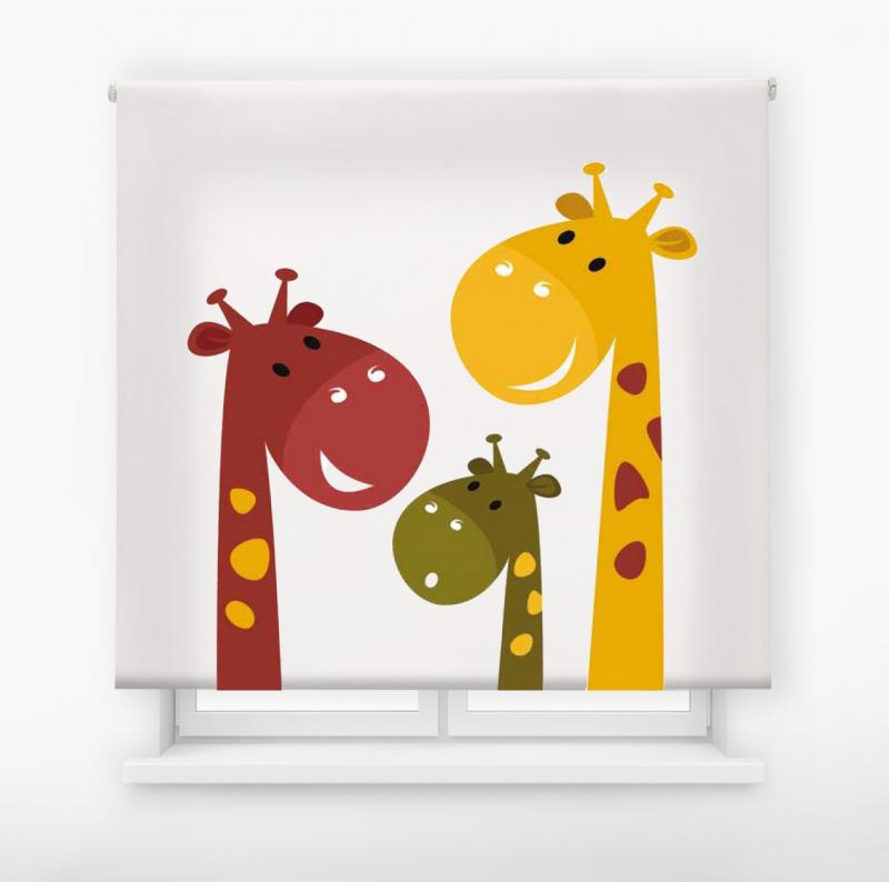 Estor enrollable infantil y bebé básico jirafas colores