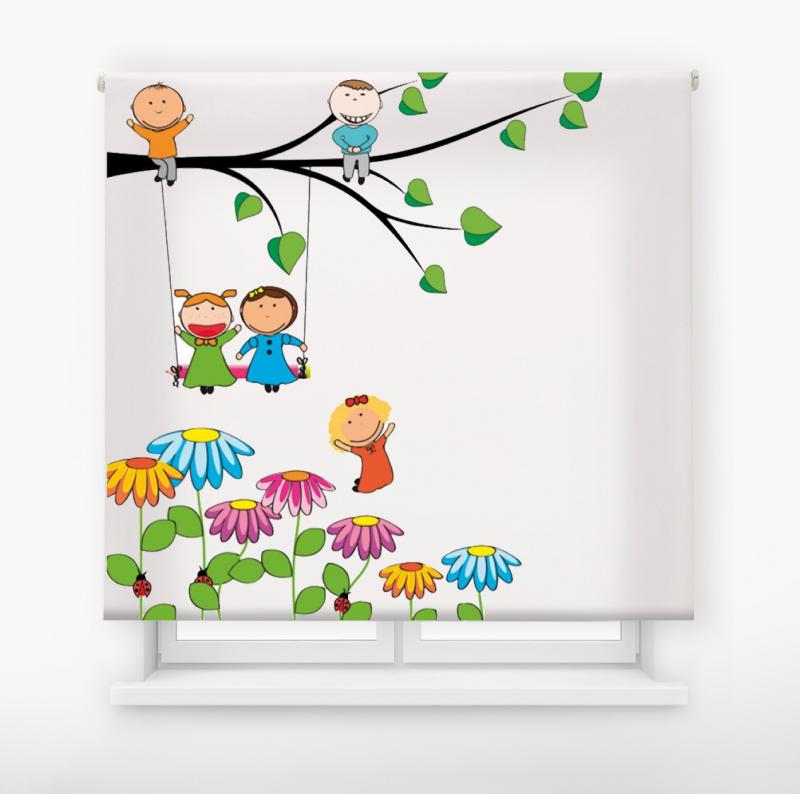 Estor enrollable infantil y bebé básico columpio árbol