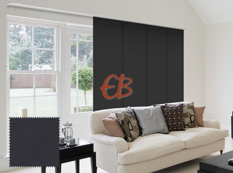 Panel Japonés solo tela color liso Negro oscurante CA14