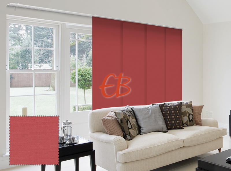 Panel Japonés solo tela color liso Rojo CA10