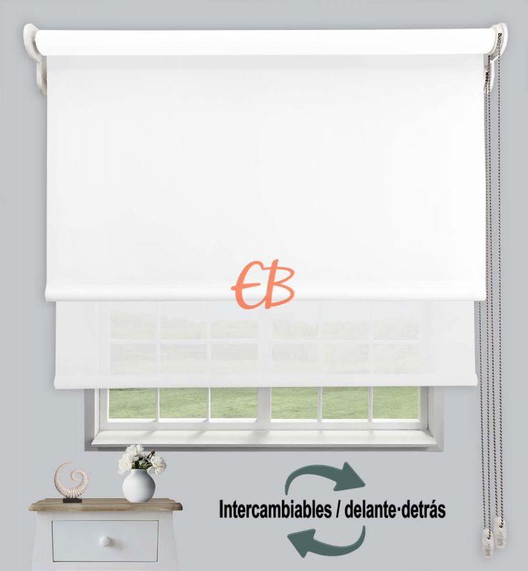 Estor doble opaco-EcoScreen Blanco DK 00 / Blanco B50202