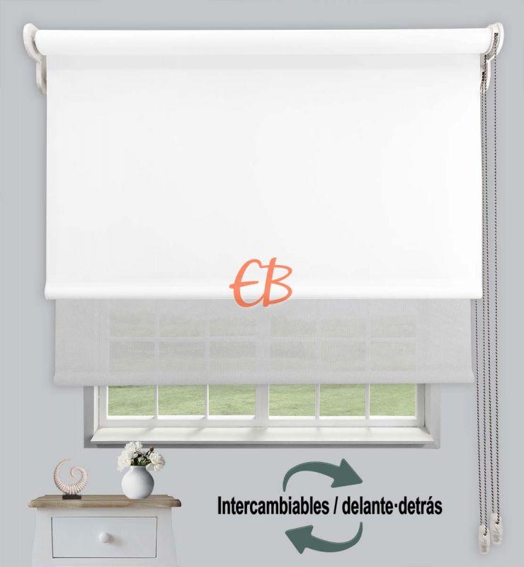 Estor doble opaco-EcoScreen Blanco DK 00/Blanco perla B50207