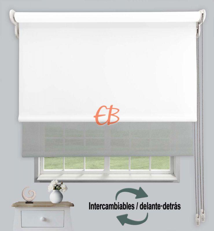 Estor doble opaco-EcoScreen Blanco DK 00 / Perla B50707