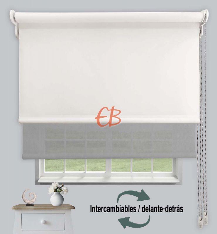 Estor doble opaco-EcoScreen Crudo DK 02 / Perla B50707