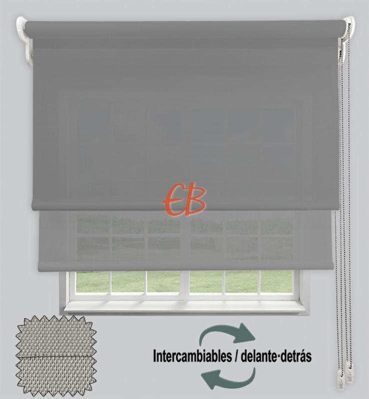 Estor doble EcoScreen 1%-EcoScreen 5% Perla B10707 / Perla  B50707
