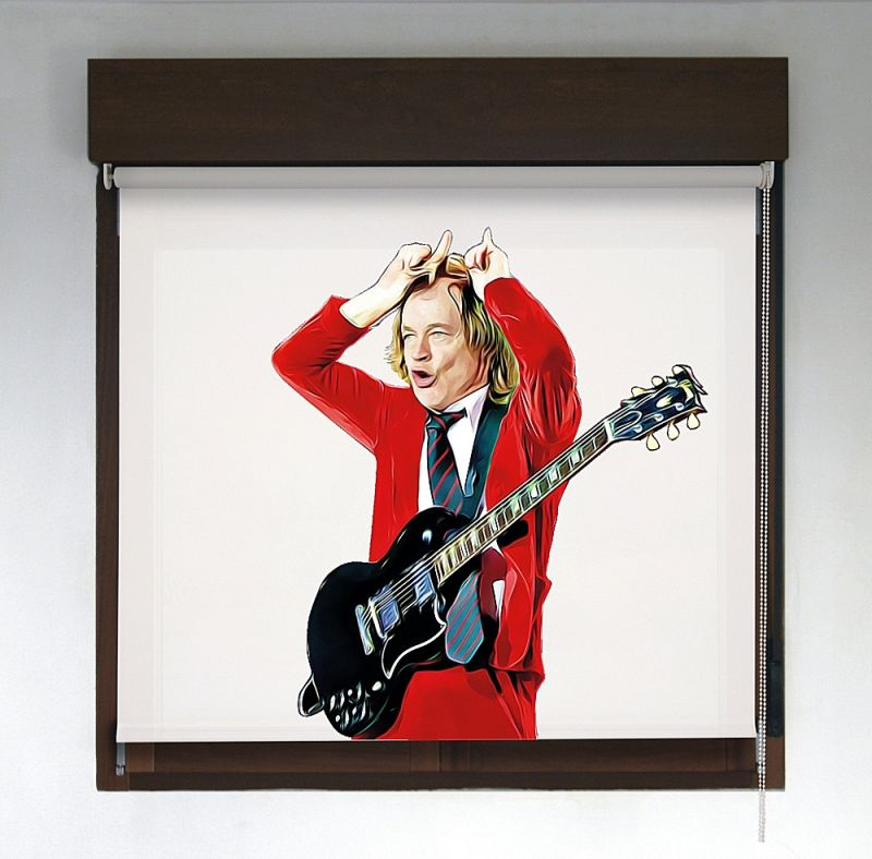 Estor enrollable Rock & Roller diseño ACDC Angus Young