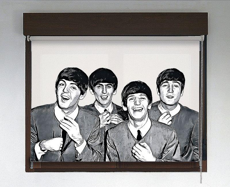 Estor enrollable Rock & Roller diseño Beatles