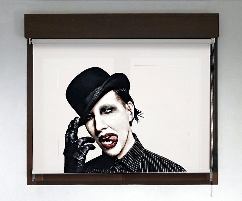 Estor enrollable Rock & Roller diseño Marilyn Manson