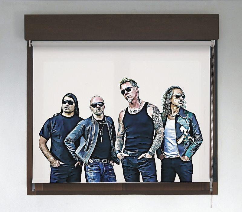 Estor enrollable Rock & Roller diseño Metallica