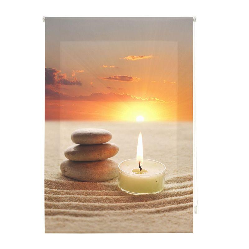 Estor enrollable impresión digital puesta de sol zen