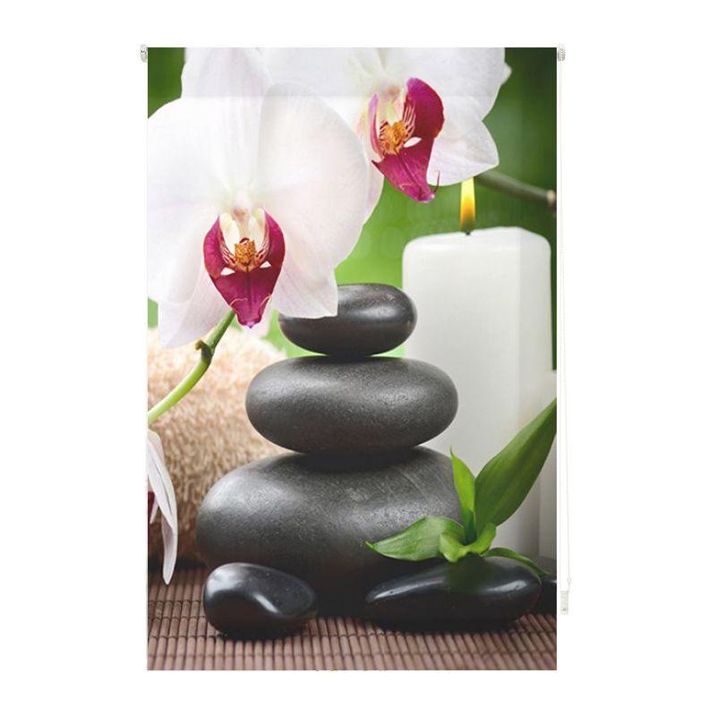 Estor enrollable impresión digital orquídea zen