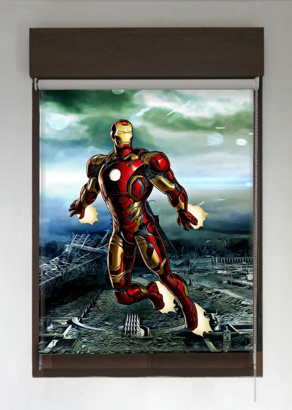 estor enrollable superroller ironman con fondo