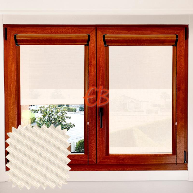 Enrollable EcoScreen 3% marco ventana Blanco lino 0220