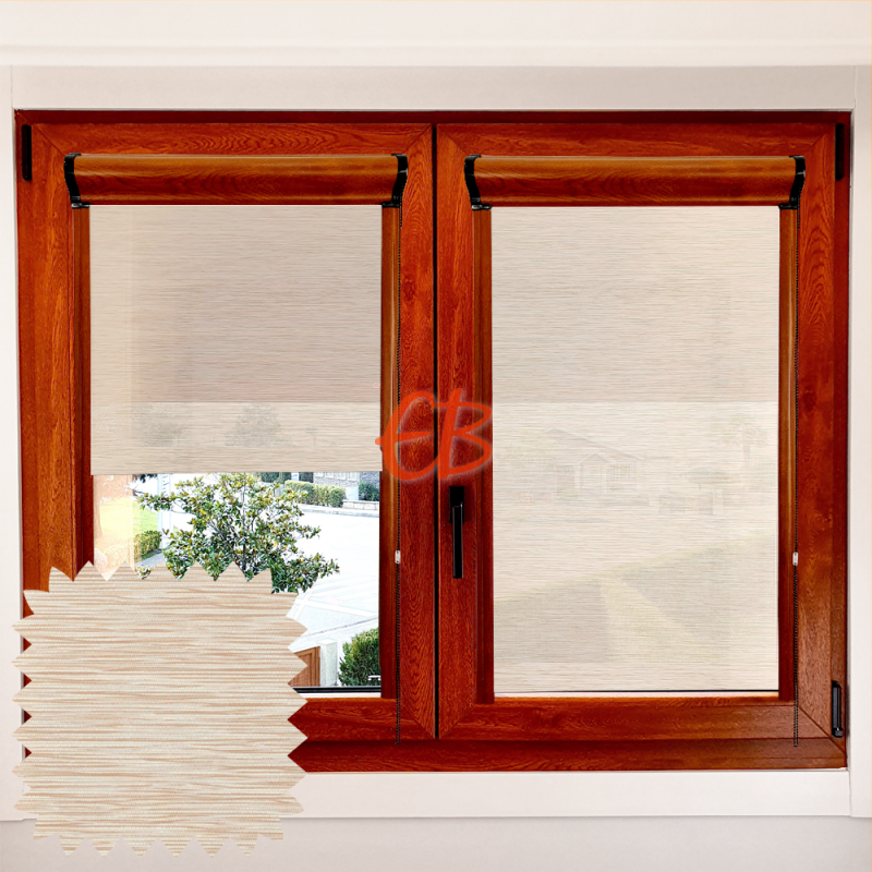 Enrollable marco ventana traslúcido madera okoume