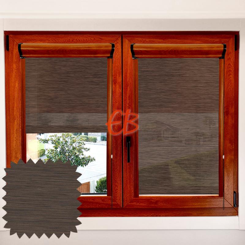 Enrollable marco ventana traslúcido madera wenge