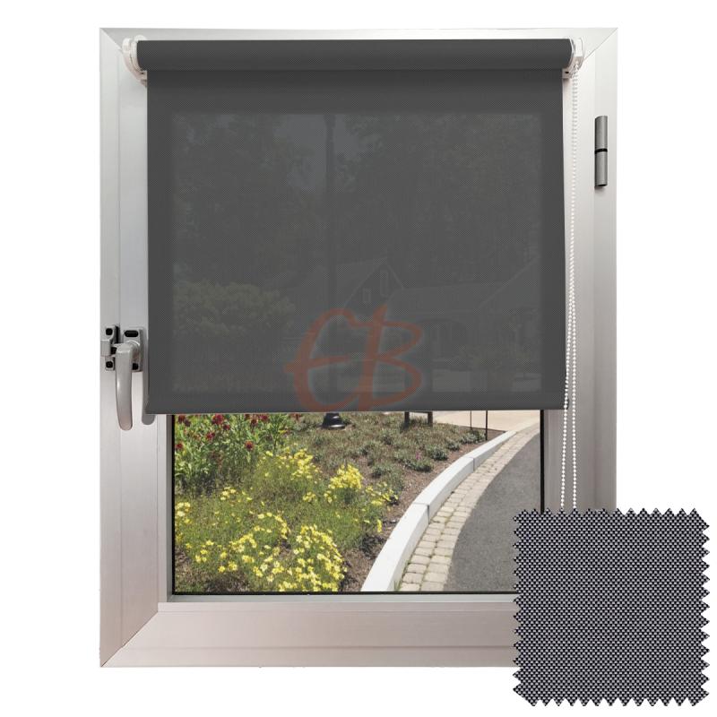 Mini estor sin Taladrar para colgar EcoScreen5% visibilidad media Antracita perla B5 3001