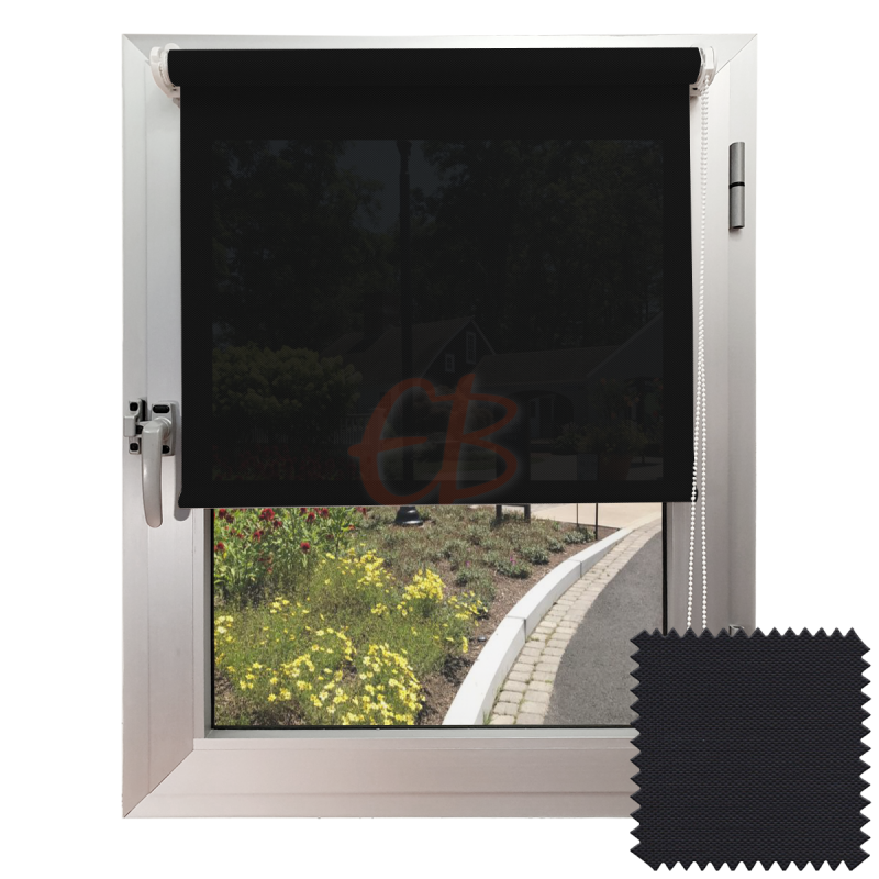 Mini estor sin Taladrar EcoScreen5% visibilidad media Antracita B5 3030