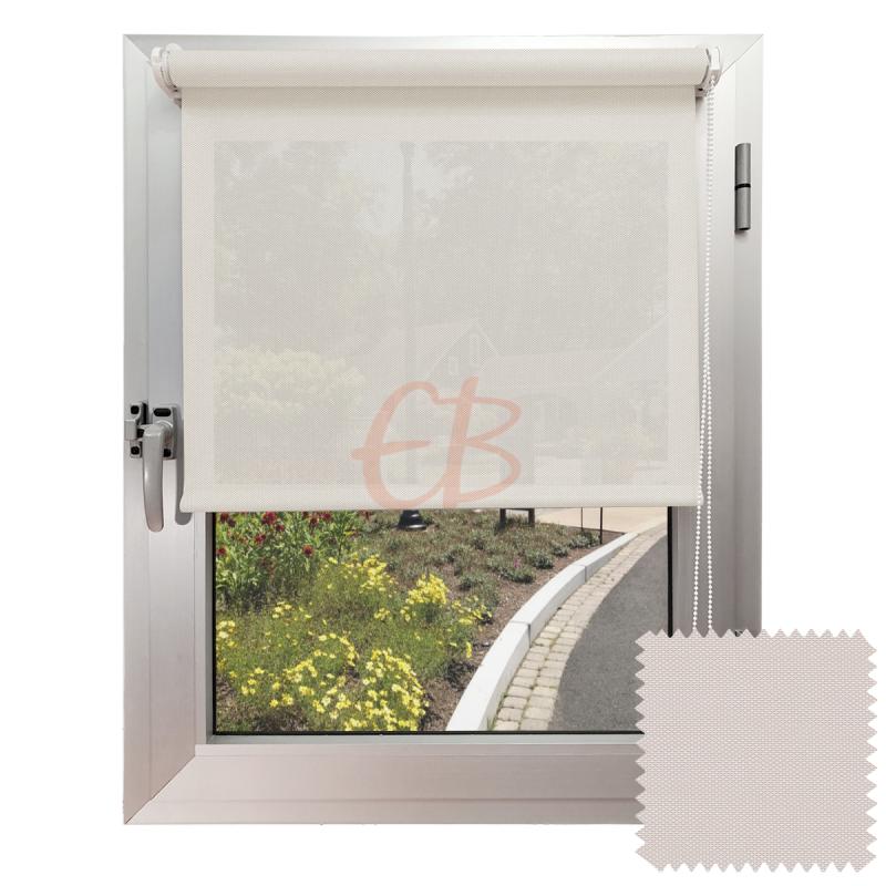 Mini estor sin Taladrar EcoScreen5% visibilidad media Blanco Lino B5 0220
