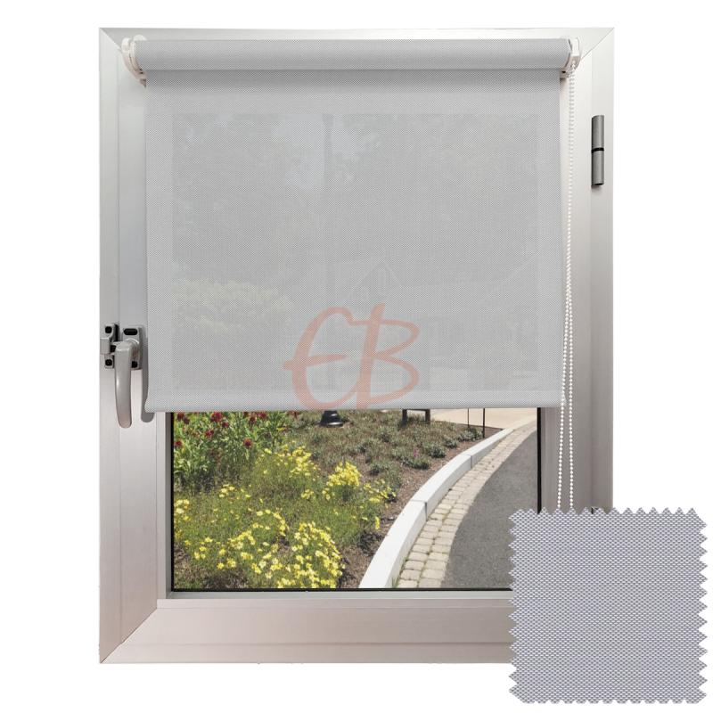 Mini estor sin Taladrar EcoScreen 5% visibilidad media Blanco perla B5 0207