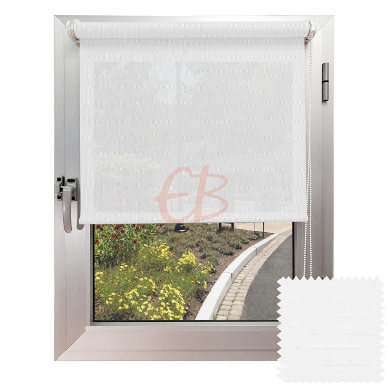 Mini estor sin Taladrar EcoScreen5% visibilidad media Blanco B5 0202