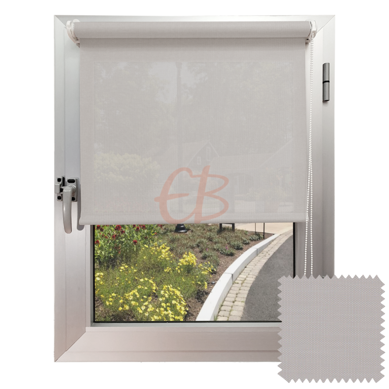Mini estor sin Taladrar para colgar EcoScreen5% visibilidad media Perla lino B5 0720