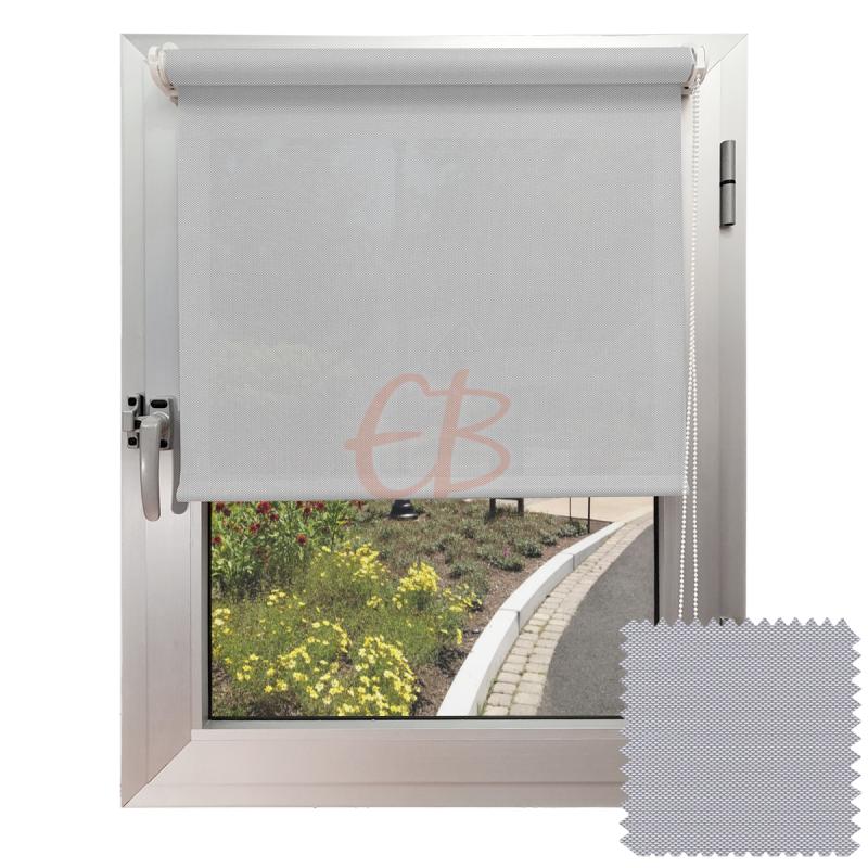 Mini estor sin Taladrar EcoScreen1% Visibilidad muy baja Blanco perla B1 0207