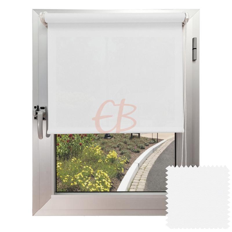 Mini estor sin Taladrar EcoScreen1% Visibilidad muy baja Blanco B1 0202