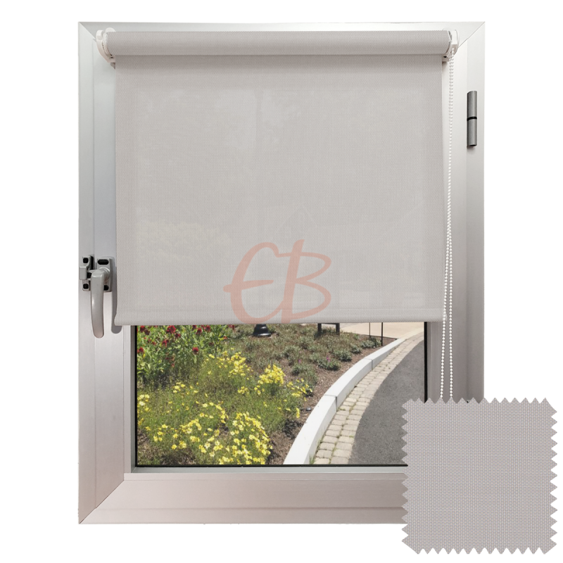 Miniestor sin taladrar screen 1% Visibilidad muy baja color Perla lino B1 0720