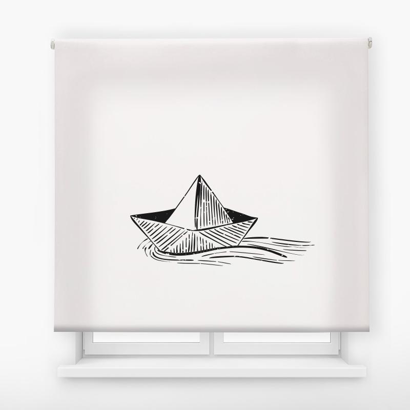 Estor de impresión digital barco de papel